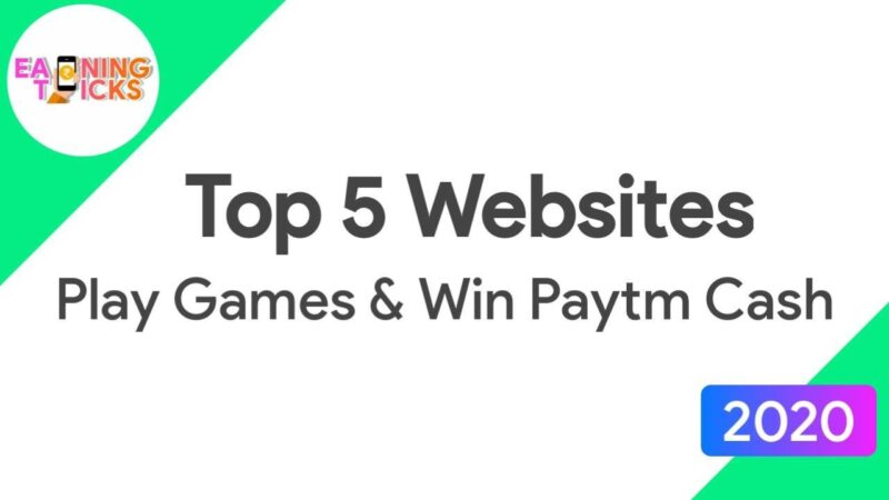 Best paytm cash earning games without investment in india